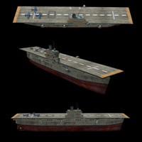 3d model ww2 aircraft carrier