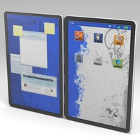 free max model dual screen tablet
