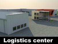 logistics center 3d model