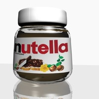 free 3ds model nutella chocolate hazelnut spread