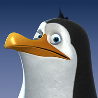 3ds max cartoon-style penguin character