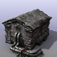 ruined house games 3d obj
