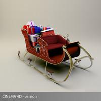 sleigh santa s 3d model