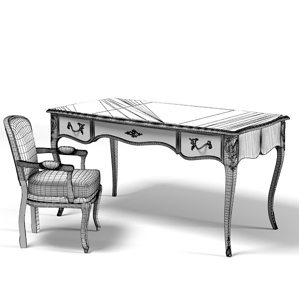 3d selva 1607 louis - selva  1607 louis classic table work desk giorgio piotto  ... by shop3ds