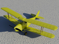 3d model of haviland tiger moth dh82