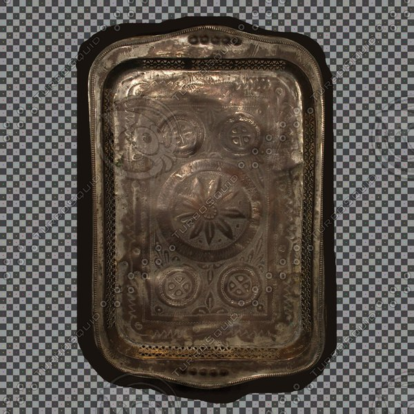 3d model of middle eastern tray - Middle Eastern Tray... by 3D_Monger