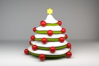 3d model comic christmastree
