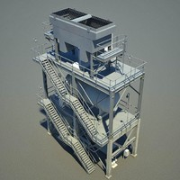 oil industrial 3d model