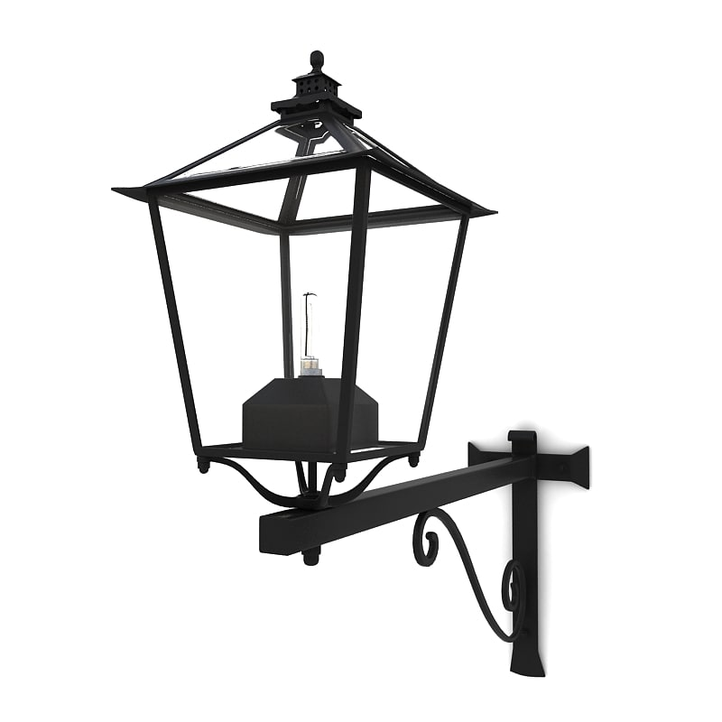 Wall Mounted Street Lamps : 3d wall street lamp