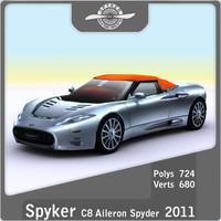 3dsmax 2011 spyker c8 aileron