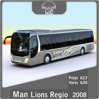 3d model of 2008 man lions regio