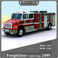 1999 freightliner fl80 e-one 3d model