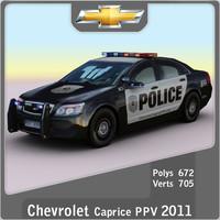 3d model 2011 chevrolet caprice ppv