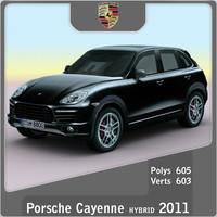 2011 porsche cayenne hybrid 3d 3ds