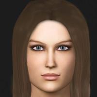 sandi realistic female c4d