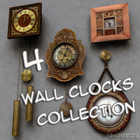 3d wall clocks model