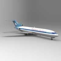 3d obj 727 airliner aircraft