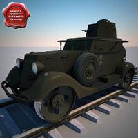 3d armored car ba-20m zhd model