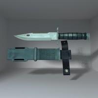 3d model bayonet