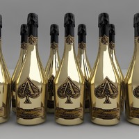 armand brignac champagne 3d model