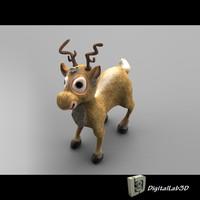 christmas deer 3d ma