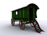 gypsy caravan 3d max