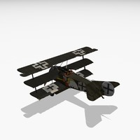 3ds max josef jacobs triplane aircraft
