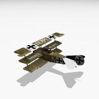 3d fritz kempf fokker markings model
