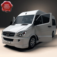 3d mercedes benz sprinter model