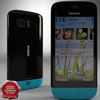 3dsmax nokia c5-03 black-blue
