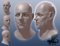 maya head man male
