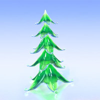glass stylized christmas tree 3d obj