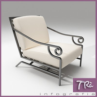 3d model of terrace armchair