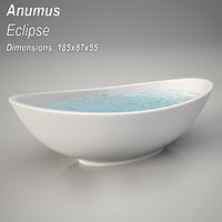 3ds max animus elipse bathtub
