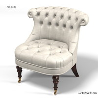 3d model baker upholstery chair