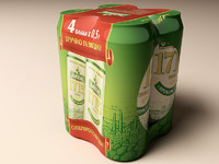 3d model multipack beer