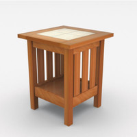 3d model of craftsman end table