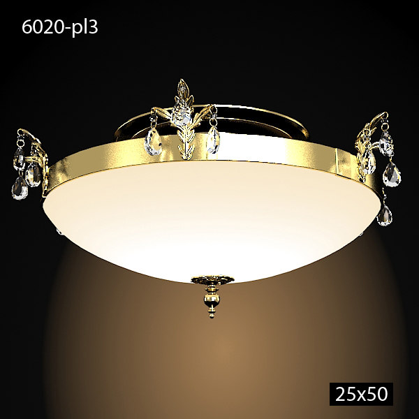 emme pi light masiero 6020 classic glass crystal chandelier ceiling mointed flush round