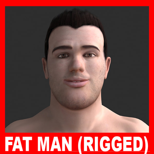 ppl01 fat man adrien 3d model - Adrien - Fat Man (Rigged)... by twopixels