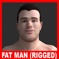 ppl01 fat man adrien 3d model