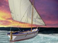 latin sail boat 3d max