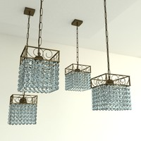 Oriental glass beads chandelier
