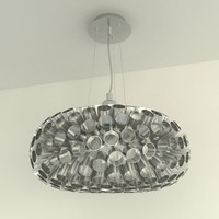 Metal pipes chandelier (Eglo Rebell)