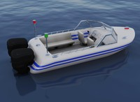 3d speed boat model
