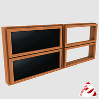 3d window glass model