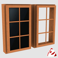3d model window glass