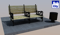 City Bench (mb, obj)