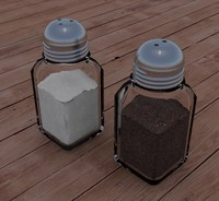 3d salt pepper shakers