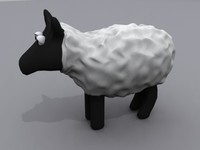 sheep animals 3ds