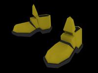 armor boots 3d model